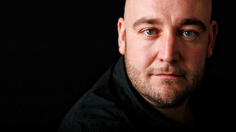 Middle-aged man with beard- opera singer Jeffrey Lloyd-Roberts