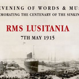 large ship in dock-RMS Lusitania