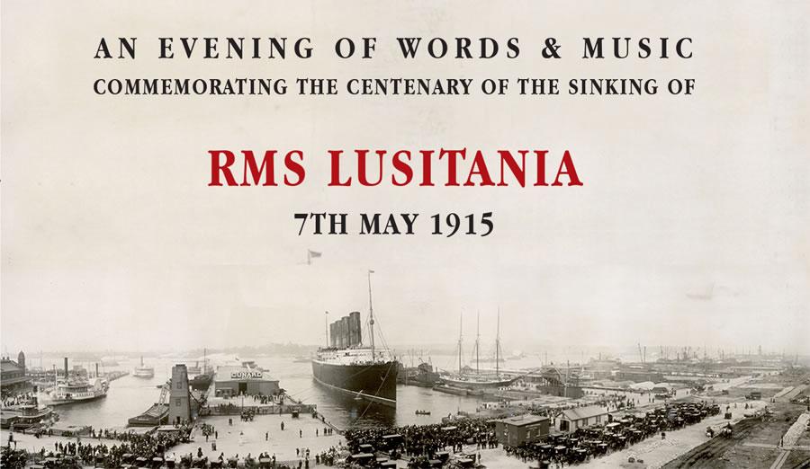 large ship in dock-RMS Lusitania