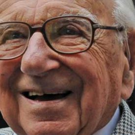 old man in glasses laughing - sir nicholas winton