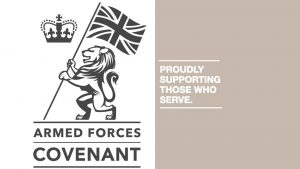 Armed Forces Covenant logo and link