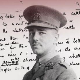 Wilfred Owen in WWI army uniform