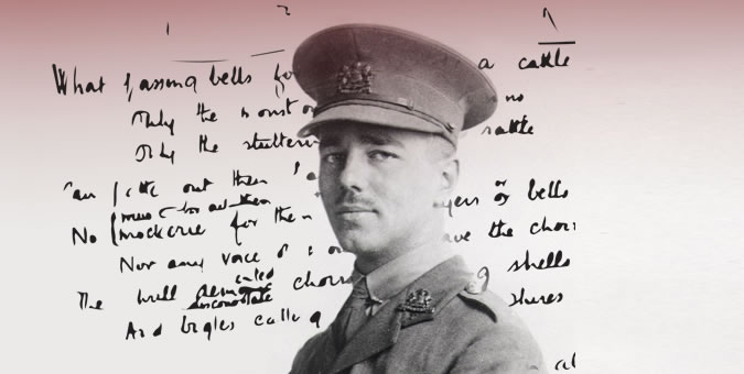 Wilfred Owen in WWI army uniform